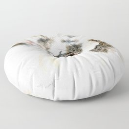 Pixie the Lionhead Rabbit by Teresa Thompson Floor Pillow