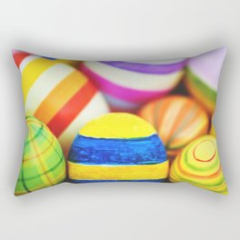 colored easter eggs Rectangular Pillow