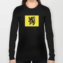 Flag of Flanders - Belgium,Belgian,vlaanderen,Vlaam,Oostende,Antwerpen,Gent,Beveren,Brussels,flamish Long Sleeve T-shirt