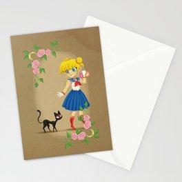 Retro Sailor Moon Stationery Cards