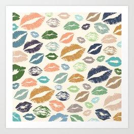 Lips 16 Art Print