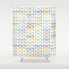 Rainbow Specs Shower Curtain