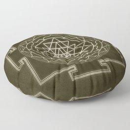 Sri Yantra XI monochrome Floor Pillow