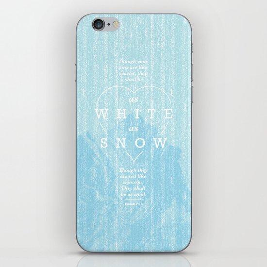as white as snow iPhone & iPod Skin