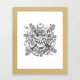 Zero Bars Framed Art Print