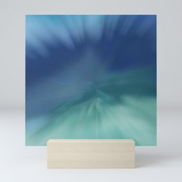 Blue meets Green Abstract Mini Art Print