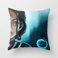 bender Throw Pillows featuring Bender Katara by Larelley