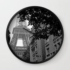 Eiffel Tower in Hiding Wall Clock