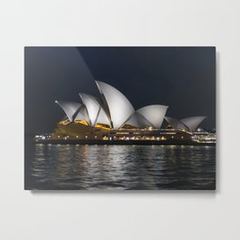 Sydney Opera House at Night Metal Print