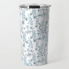Winter patterns in blue. Travel Mug