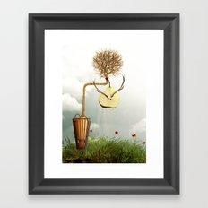 Deer Pear Framed Art Print