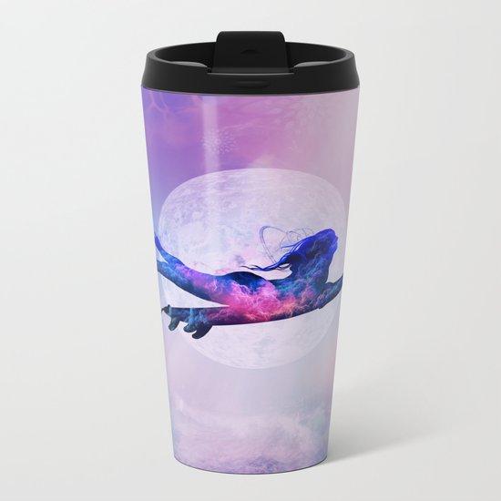 into the blue Metal Travel Mug