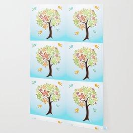 Tree and birds Wallpaper