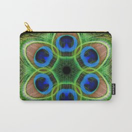 Peacock Feather Kaleidoscope Carry-All Pouch