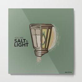Salt and Light Metal Print
