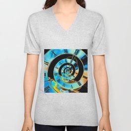 Infinite Time Blue Unisex V-Neck