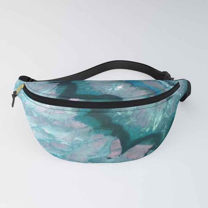 Teal Crystal Fanny Pack