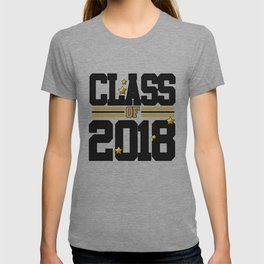 class of 2018 graduation grade senior 2018 new student love art gold hot T-shirt