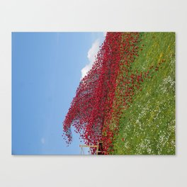 Fort Nelson Poppy Wave Canvas Print