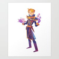 warcraft Art Prints featuring Anduin Wrynn by geminidraws