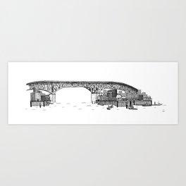 Granville Island Market Art Print