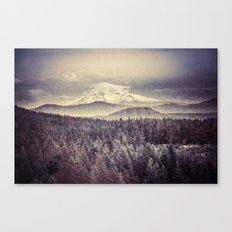 Mountains and Forest - Mt. Hood Mountain Remember the Snow Canvas Print