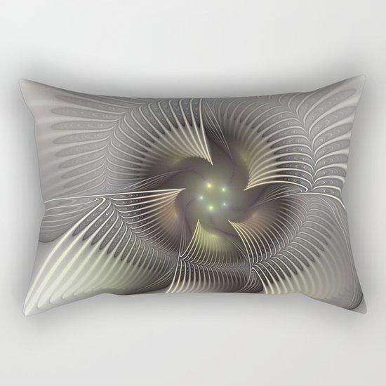 Stand Up, Abstract Fractal Art Rectangular Pillow