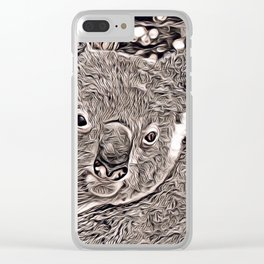 Rustic Style - Koala Clear iPhone Case