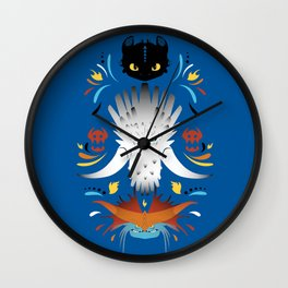 Trained Dragons Wall Clock