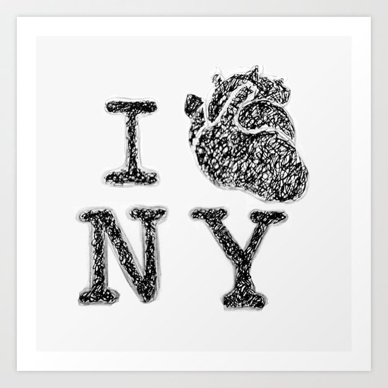 I HEART NEW YORK Art Print