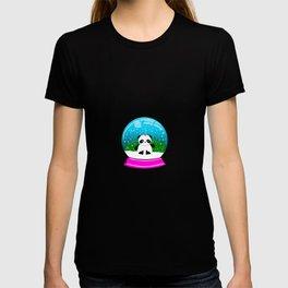 Pandacorn in a Snowglobe T-shirt