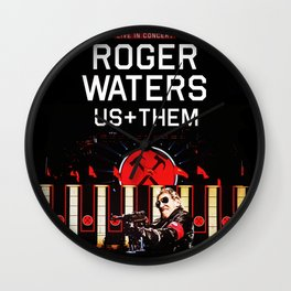 ROGER WATERS US+THEM TOUR DATES 2019 TULIP Wall Clock