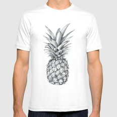 Pineapple White Mens Fitted Tee SMALL