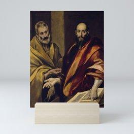 "El Greco (Domenikos Theotokopoulos) ""Saints Peter and Paul (1587-1592)"" Mini Art Print"