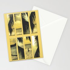 Yellow collage Stationery Cards