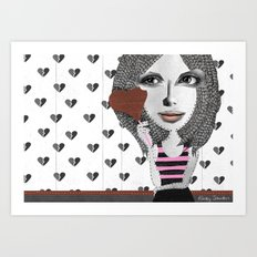 Forget LOVE... I'd rather fall in CHOCOLATE Art Print
