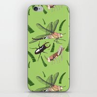 insects iPhone & iPod Skins featuring Insects by The Bird Draws
