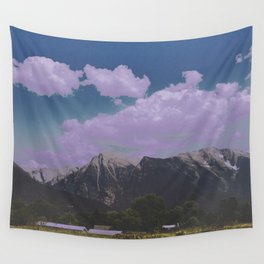 mountain town Wall Tapestry