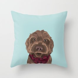 Remington the Wirehaired Pointing Griffon Throw Pillow