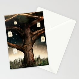 Rustic Mason Jar Tree Stationery Cards