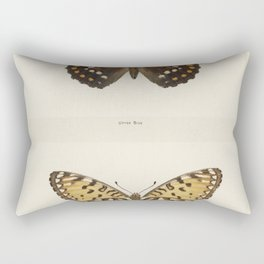 Regal Fritillary (Argynnis Idalia) from Moths and butterflies of the United States (1900) by Sherman Rectangular Pillow