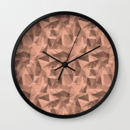 Abstract Geometrical Triangle Patterns 3 Pratt and Lambert Earthen Trail 4-26 Wall Clock