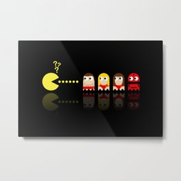 Pacman with Baywatch Ghosts Metal Print