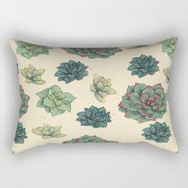 Succulents Squared Rectangular Pillow