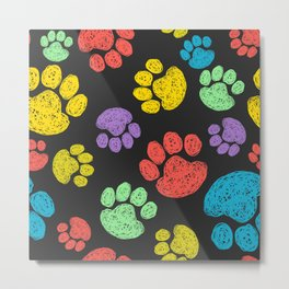 Dog Paw Metal Print