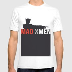 MAD X MEN MEDIUM Mens Fitted Tee White