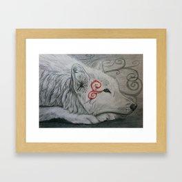 Wolf Spiral Framed Art Print