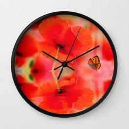 Summer Dream of Poppies Wall Clock