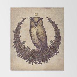 Owl Hedera Moon Throw Blanket