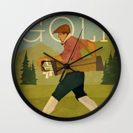 Vintage Golf Wall Clock
